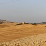 Valdicecina panorama casale collina fieno