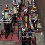 Installazione Biciclette di Eugenio Faggini a Montelupo