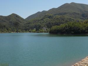Lago del Brasimone vista. Parco regionale dei Laghi di Suviana e del Brasimone
