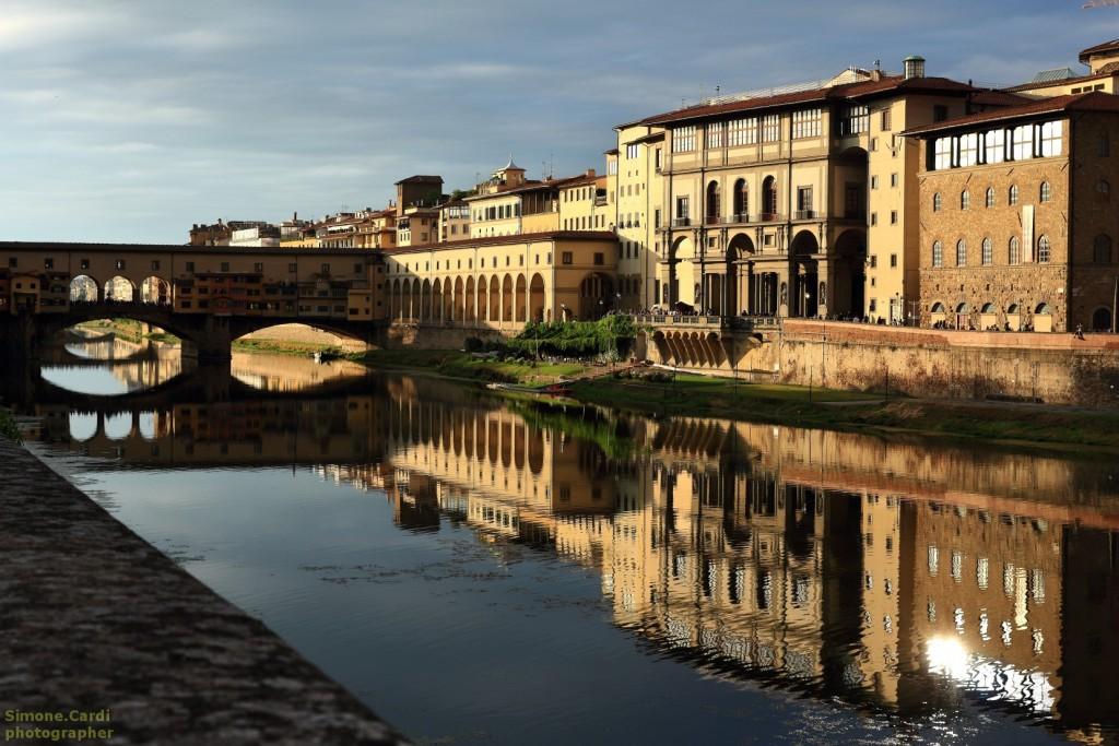 Vista d'insieme degli Uffizi e Ponte Vecchio, Firenze