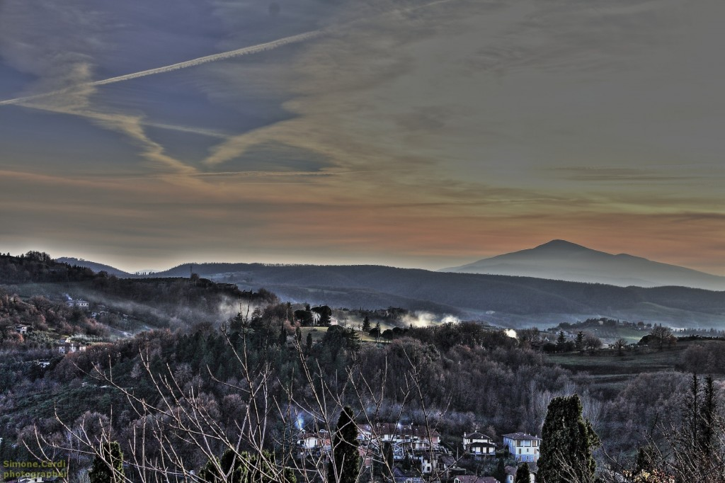 Montepulciano - panorama sulla Valdichiana (Montepulciano, Siena)