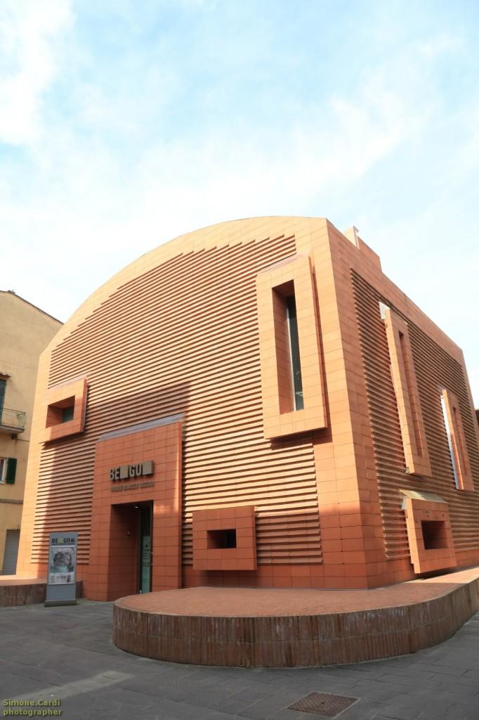 Museo BeGo Benozzo Gozzoli a Castelfiorentino l'esterno in mattoni di cotto