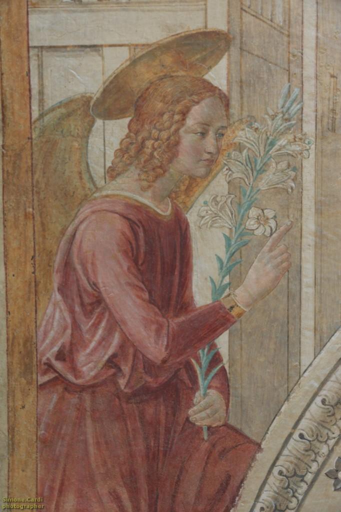 Museo BeGo particolare dell'affresco del tabernacolo della Visitazione