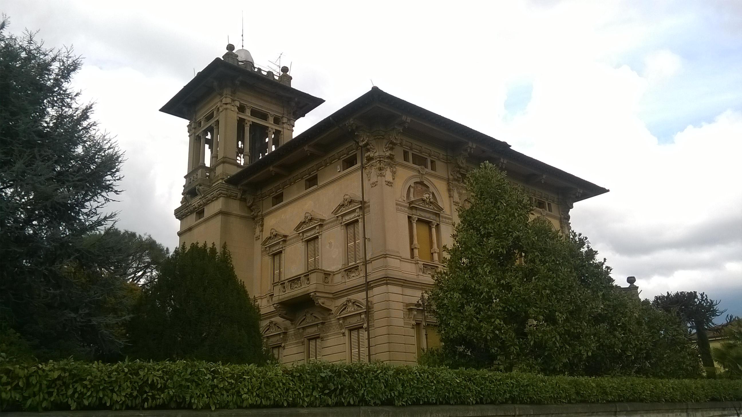 Veduta esterna di Villa Masini a Montevarchi