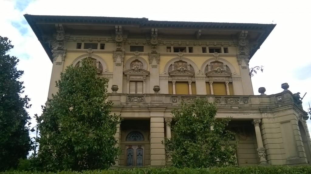 Villa Masini a Montevarchi la facciata