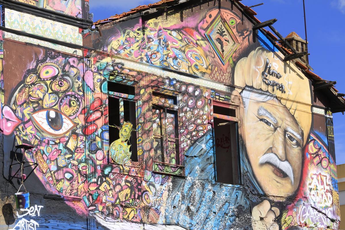Street art portogallo murales lisbona oporto e algarve - Sculptures metalliques murales ...