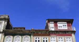 Guimaraes palazzi colorati centro storico