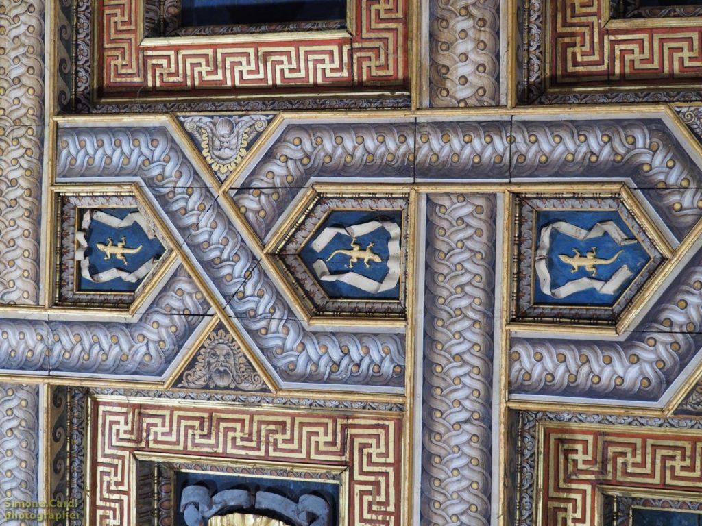 Mantova Palazzo Te salamandra impresa di Federico Gonzaga