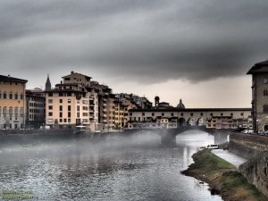 Firenze, veduta del Ponte Vecchio
