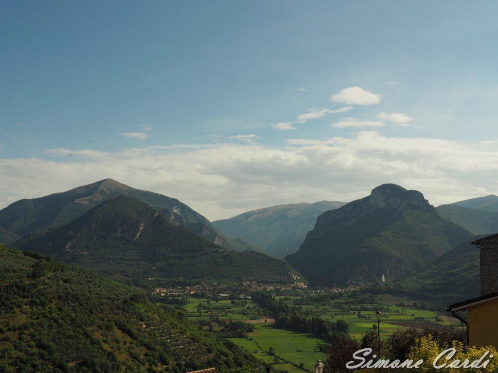 Valnerina veduta da Montefranco