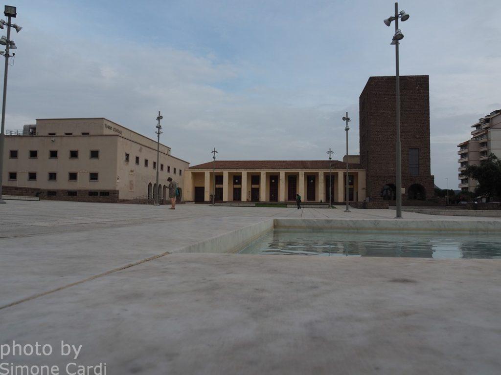 Carbonia piazza roma torre littoria
